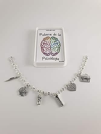 pulsera plata ley psicóloga 22cm