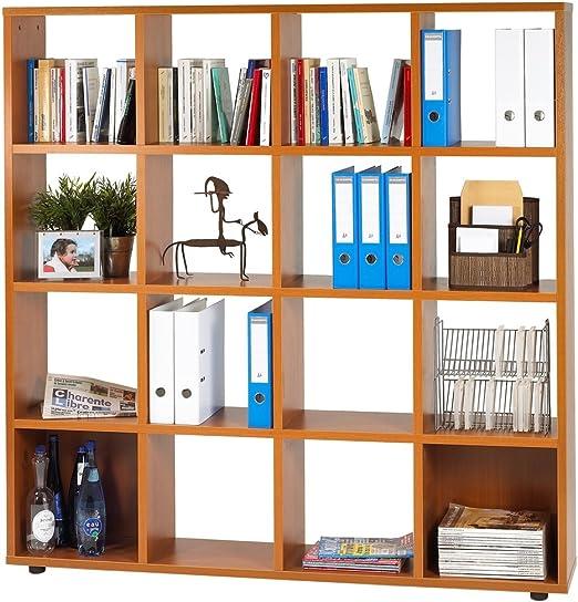 SIMMOB curma0160md estantería con 16 Cases Panel de Madera ...