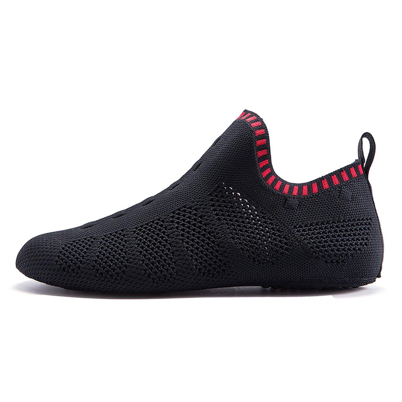 ONEMIX Men's Women's Sneakers Lightweight Breathable Outdoor Walking Shoes Sock-Like Sneakers B077M3LBBV 8US = Foot Length 10.23in = 41EUR C-black/Red