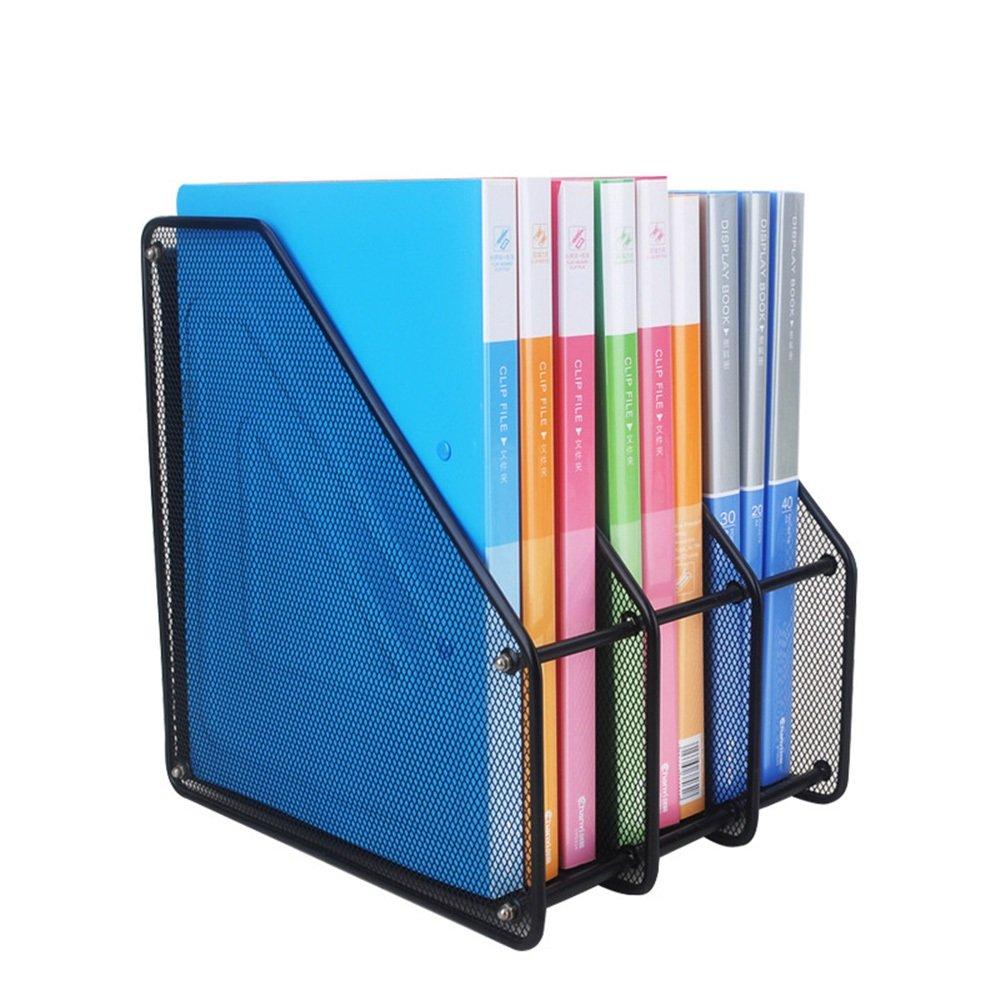 Desk File sorter Organizer Metal Grid File Column Three Grids Anti-fragmentation Data Files Office Supplies Finishing