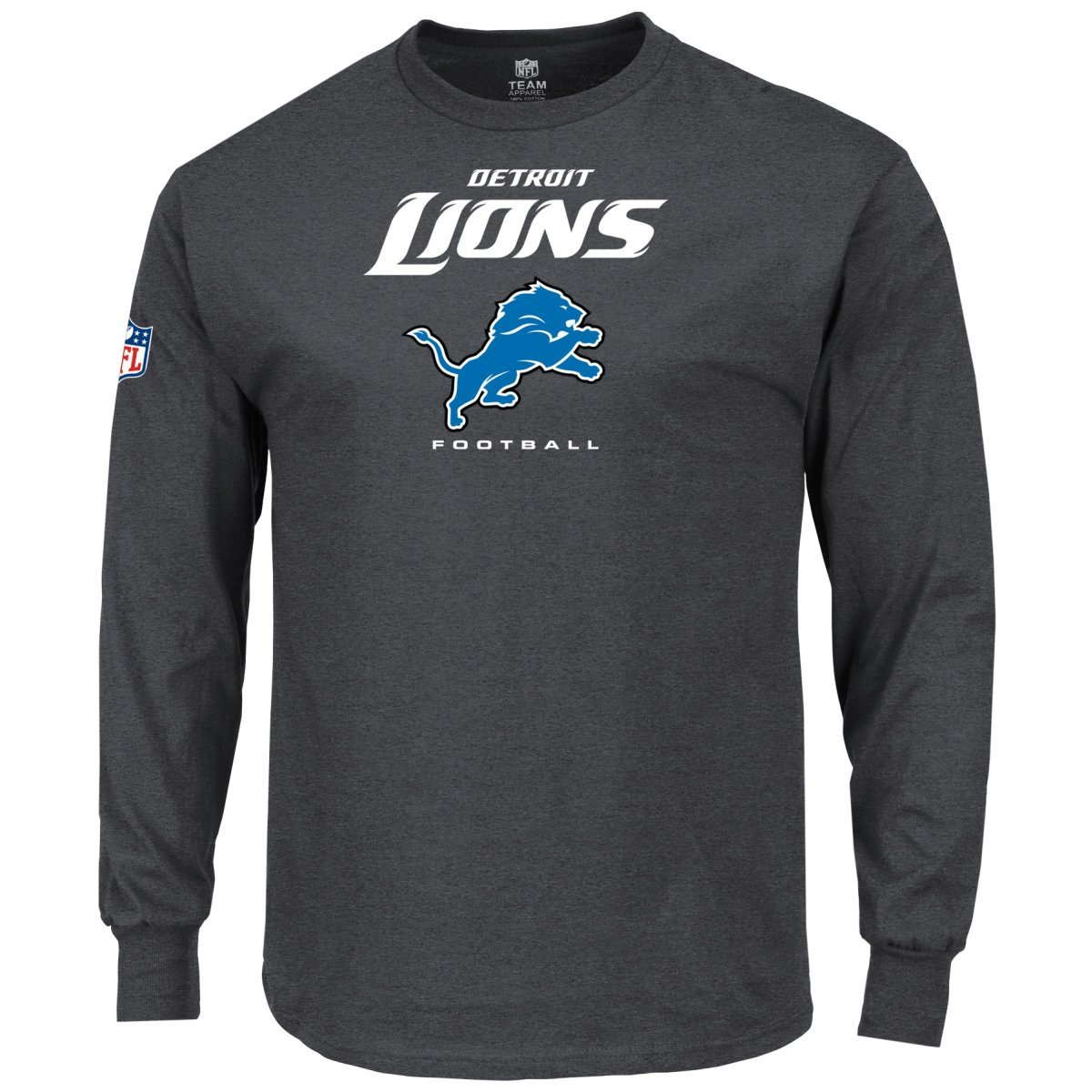 Detroit Lions Charcoal Majestic Our Team Longsleeve
