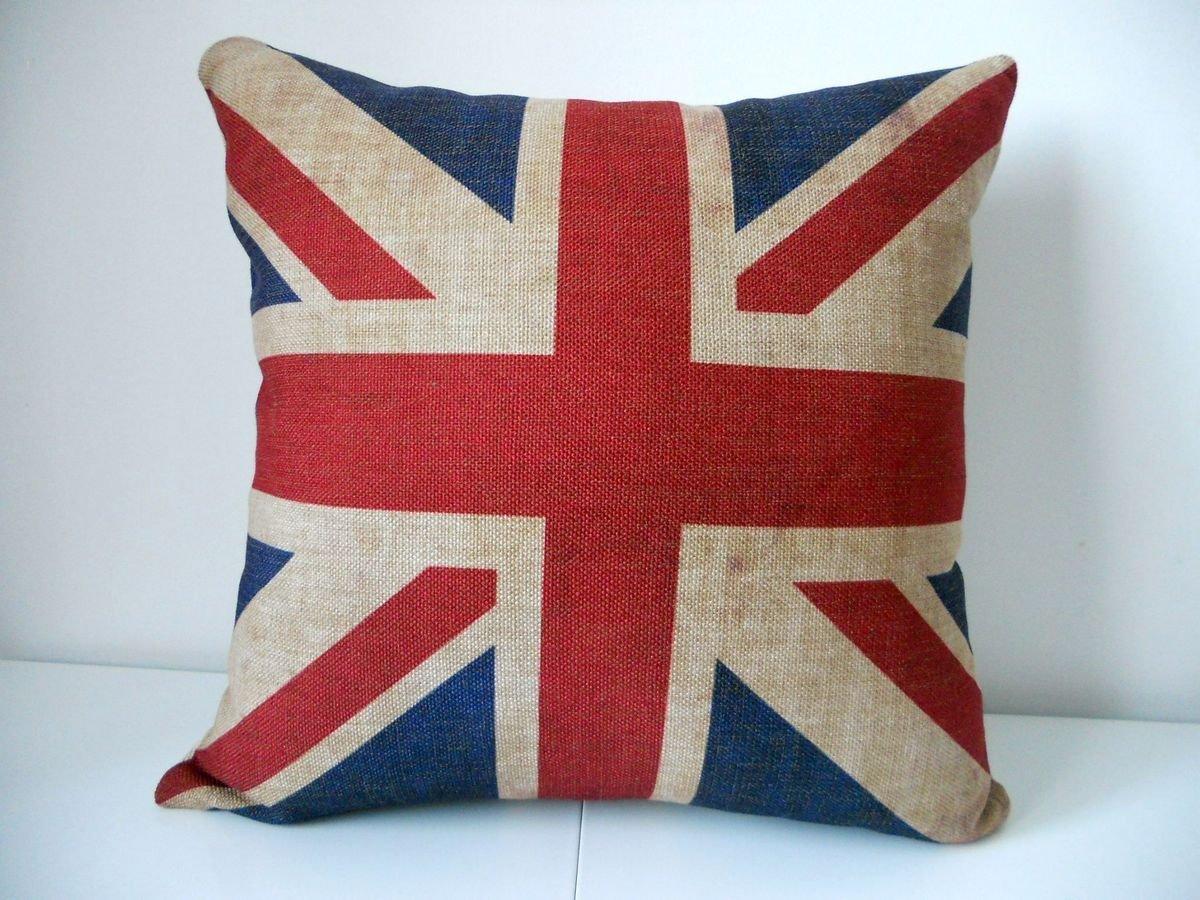 "Decorbox The Union Jack British Flag Cotton Linen Square Decorative Throw Pillow Case Cushion Cover 18 ""X18 """