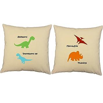 Amazon.com: Conjunto de 2 cojines roomcraft Dinosaurios ...