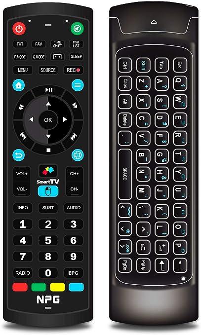 Mando a Distancia Smart TV Android NPG con Teclado QWERTY y ...