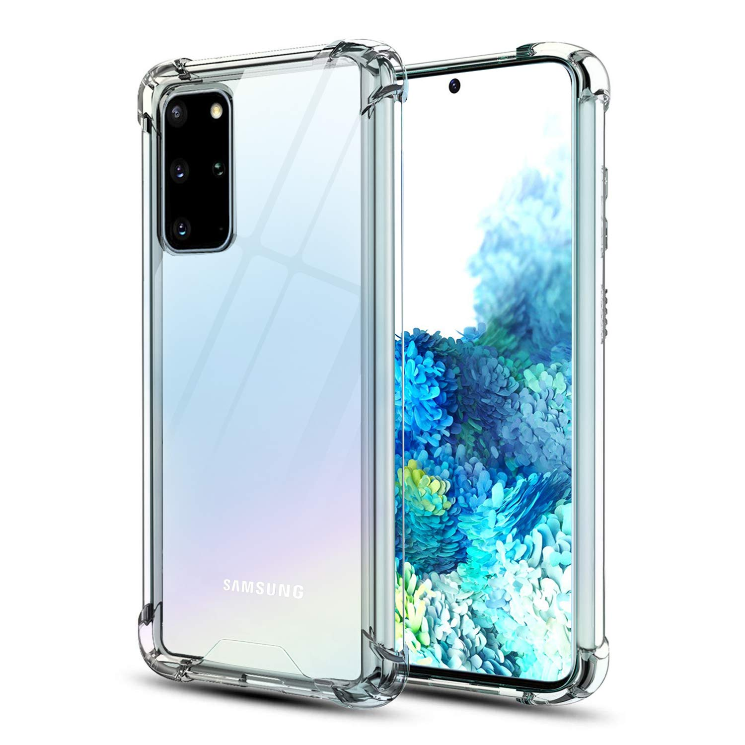 OTBBA Samsung Galaxy S20 Plus Case, Clear Slim Cases with Soft TPU Anti-Yellow/Scratch/Reinforced Corner Protection Cover for Galaxy S20+ (6.7inch)