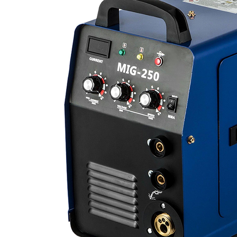 Cueffer Equipo de Soldadura MIG-250 Máquina de Soldadura Soldador Inverter con Electrodo Máquina de Soldar (MIG-250): Amazon.es: Bricolaje y herramientas