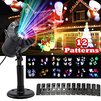 Image Unavailable. Image not available for. Color: Ruixunte 12 Pattern Motion  Christmas Landscape Lights Projector LED ... - Amazon.com : Ruixunte 12 Pattern Motion Christmas Landscape Lights
