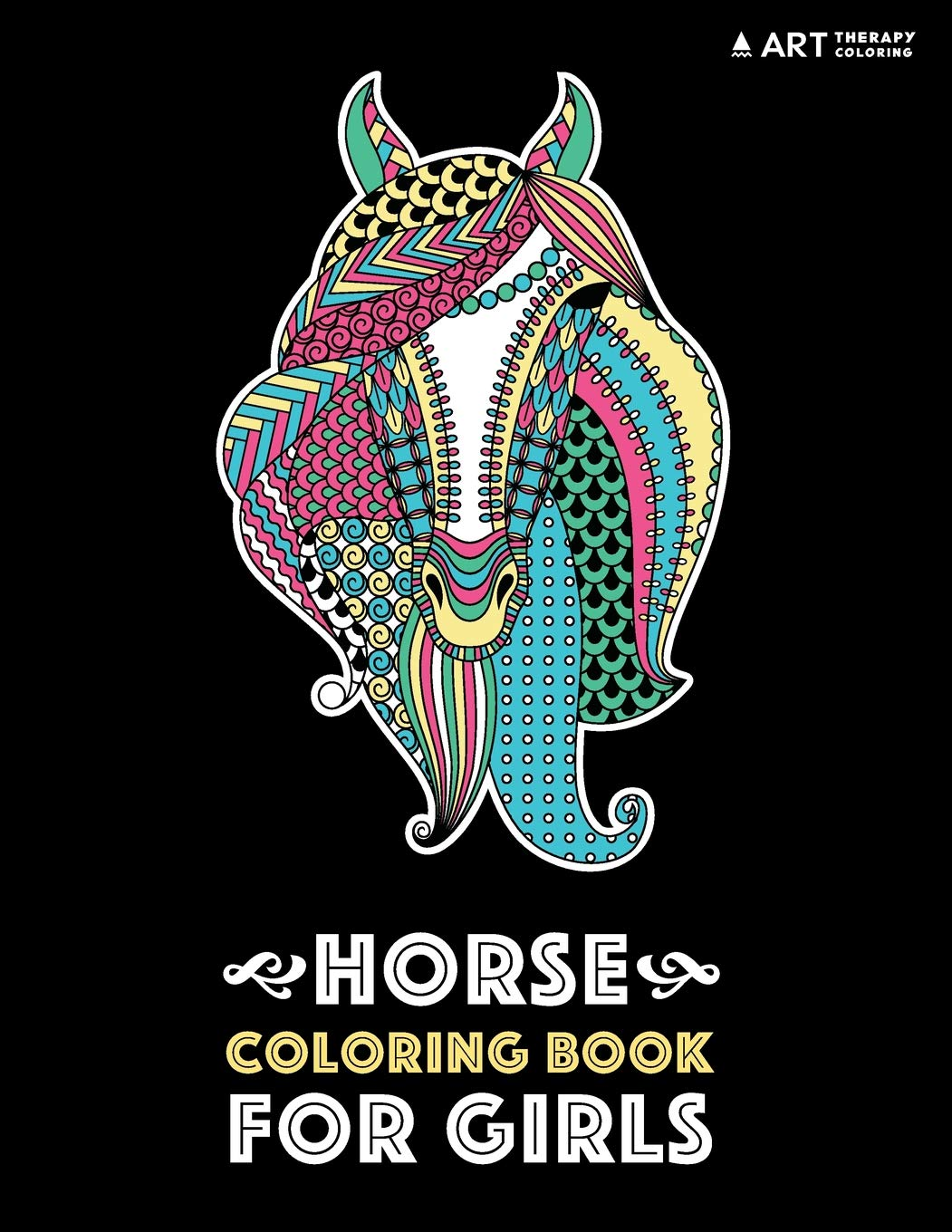 Horse Coloring Book Girls Relaxation