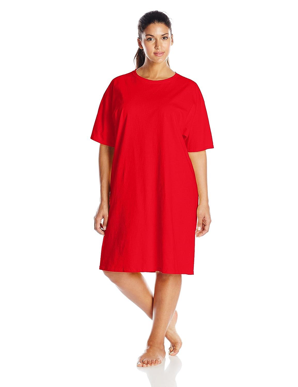Hanes Women's Wear Around Nightshirt Black One Size Hanes Women' s Activewear 5660