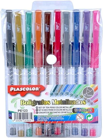 Plascolor PE123 - Pack de 10 Pack de 10 boligrafos: Amazon.es: Oficina y papelería