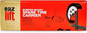 EAZ LIFT Spare Tire Carrier Bumper Mount - Easily Mounts to Your RV Bumper to Create an Exterior Space and Tire Location (48476)