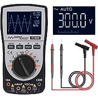 Tongdejing 2-in-1 oscilloscoop, multimeter, intelligente digitale scopemeter DC/AC spanningsweerstand, frequentietester…