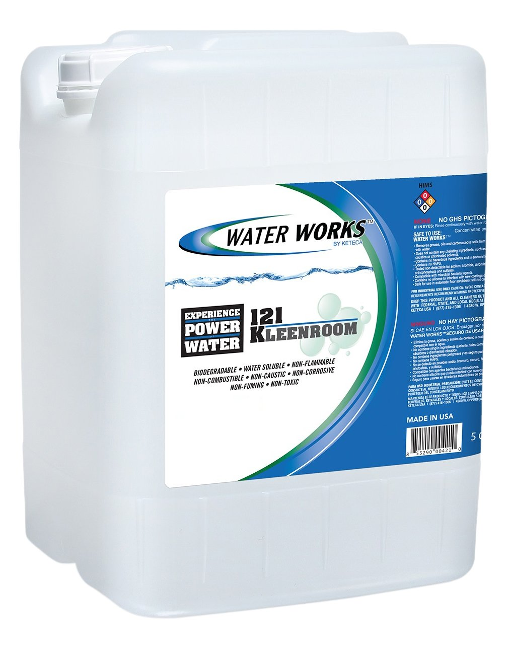 Water Works 121 KLEEN Room Surfactant-Based Floor Cleaner/Degreaser Concentrate, 5 Gallons