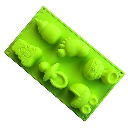 MKNzone 1 moldes de silicona DIY , tartas, chocolate - Chupetes, biberones y juguetes(29.5 X 17.5 X 3.5 cm)