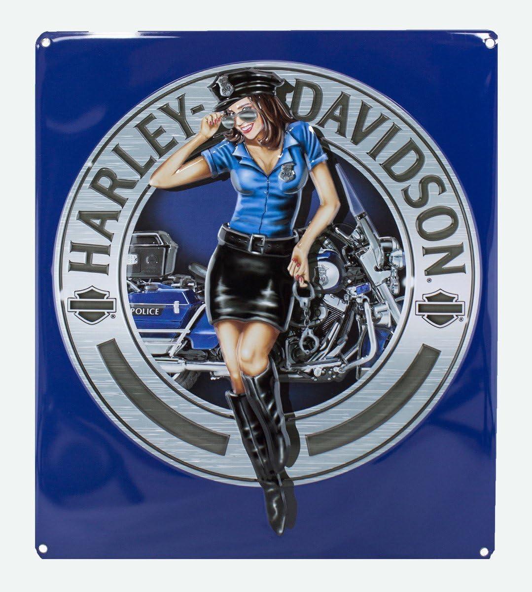 Ande Rooney Harley Davidson Police Babe Sign