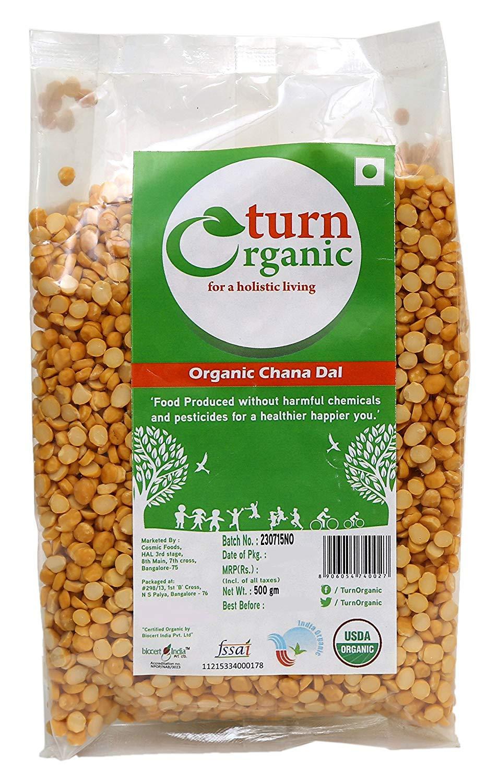 Turn Organic Chana Dal, 500 g