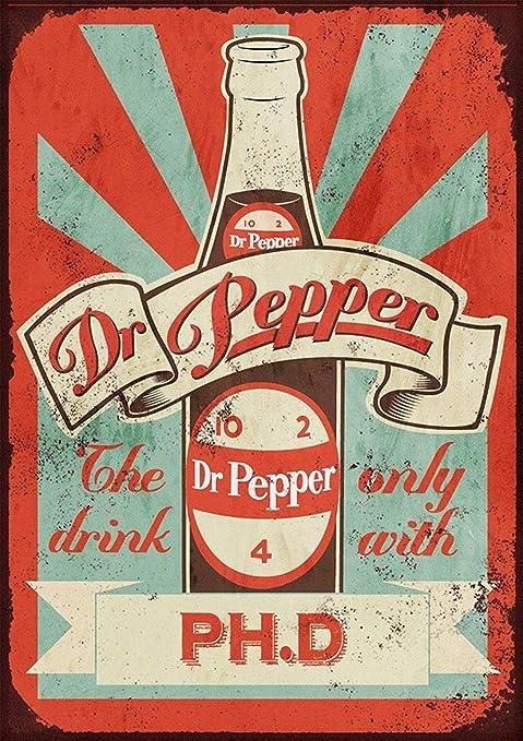 Dr Pepper Póster De Pared Metal Retro Placa Cartel Cartel De ...