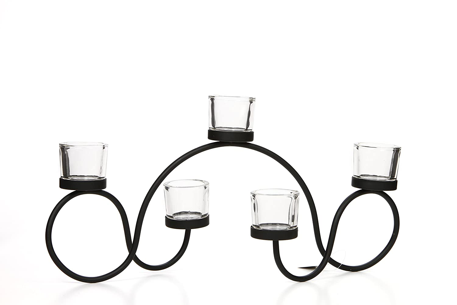 Hosley's 19 Long Tealight Candle holder. Hand Made By Artisans. Includes FREE Tea Lights. Ideal for Fireplace, Home, Spa, Wedding Gift. Modern Art. Bulk Buy HG GLOBAL FBA-G58700ON-1-EA