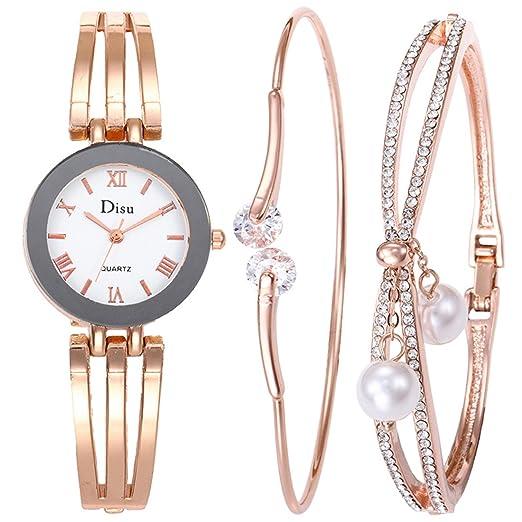 Luzoeo Parure de Montre Bracelet avec Boîte Cadeau Style Simple et Tendence  pr Cérémonie Soirée Mariage  Amazon.fr  Montres 03fbe3c993c