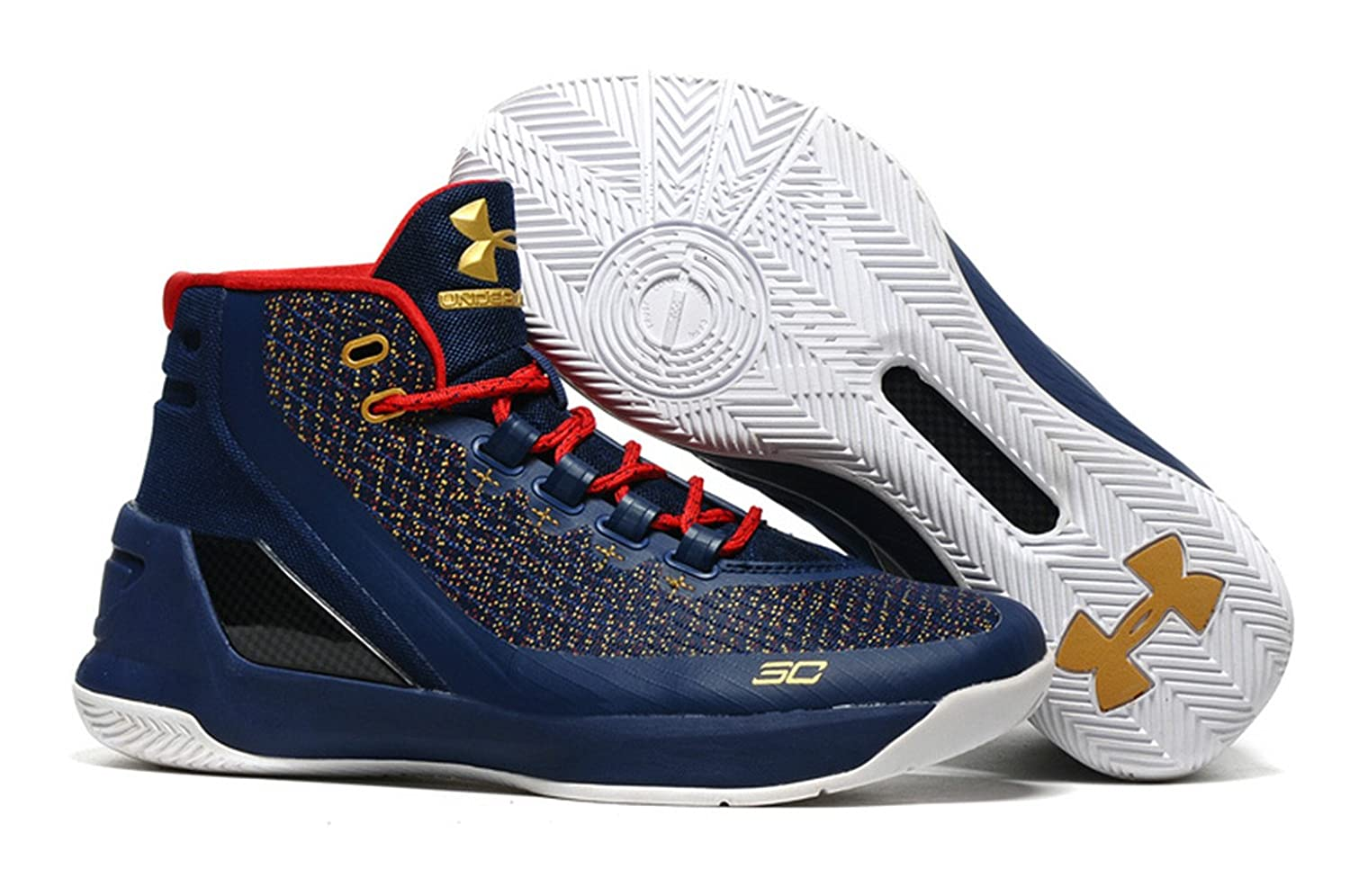 Golden State Warriors Stephen Curry 3 Royal Blue Basketball Shoes