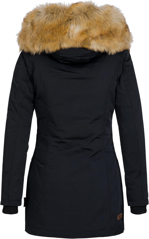 Marikoo Damen Winter Jacke Wintermantel Maigl/öckchen 7 Farben XS-XXL
