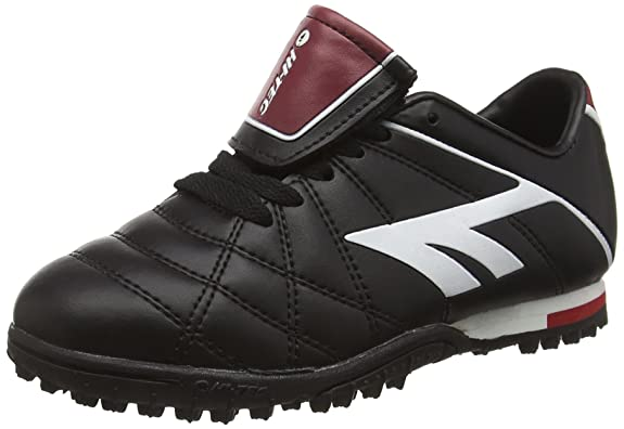 Hi-Tec Unisex-Kinder League Pro Astro Junior Fußballschuhe, Schwarz (Black/White/Red 021), 39 EU