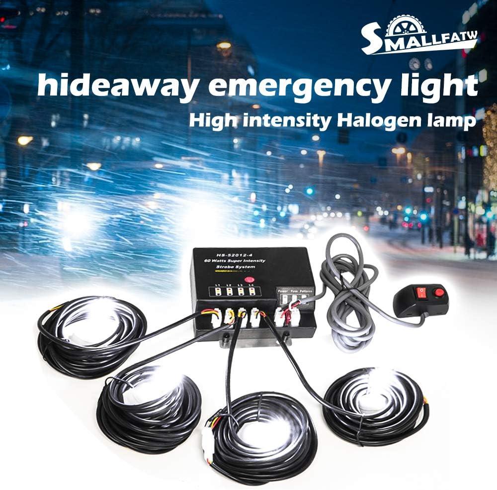 4X Replacement Bulbs For 120 Blue 160 Watt Hide A Way Strobe Light B