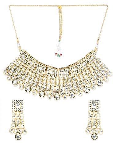 0d0dd580c545f Amazon.com: Melani Borsa Zobby Ethnic Indian Traditional White 18k ...