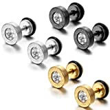 Amazon Price History for:Aroncent 6PCS Men's Stainless Steel Faux Illusion Greek Vintage Stud Earrings