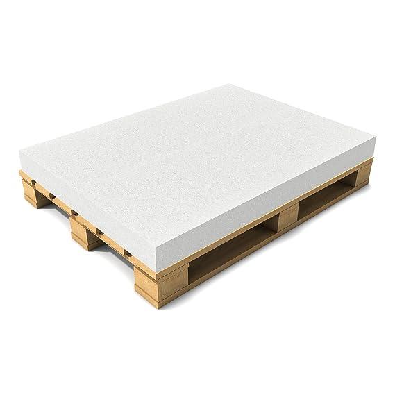 [neu.haus] Schaumstoff 120 x 80 x 10 cm Öko-Tex Standard Matratze Palettenauflage Palettenkissen Polster Weiß