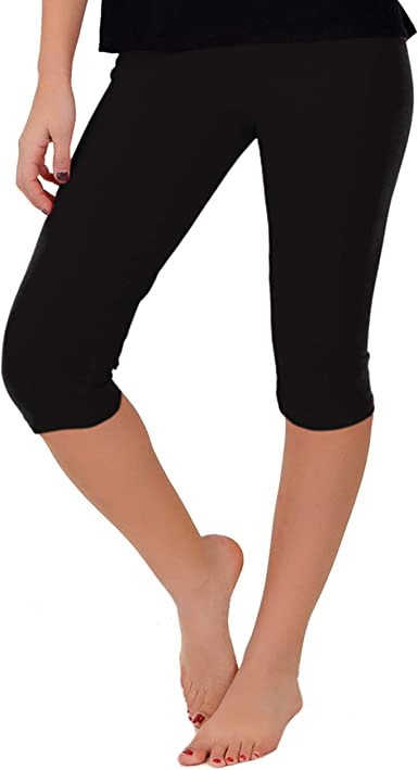 Toddler Girls Capri Stretchy Legging Any Occasion Pants Solid Color Size S M L