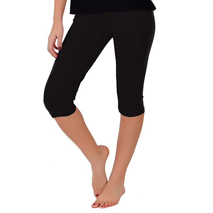 19691b5256 Women's and Girl's Circuit Knee-Length Leggings | Stretchy Leggings | Cotton  Spandex | XS Child - 5X Adult