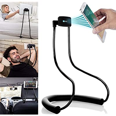 GoWith Magnetic Tablet & Cell Phone Holder, Universal Mobile Phone Stand, Lazy Bracket for Table, Bed, Car & Bike, Adjustable Rotating Gooseneck Mount with Flexible, Collapsible and Portable Design