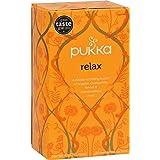 Pukka Organic Relax Herbal Tea - 20 bags per pack -- 6 packs per case.
