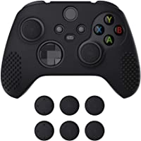 eXtremeRate PlayVital Black 3D Studded Edition Anti-Slip Silicone Cover Skin for Xbox Series X Controller, Soft Rubber…
