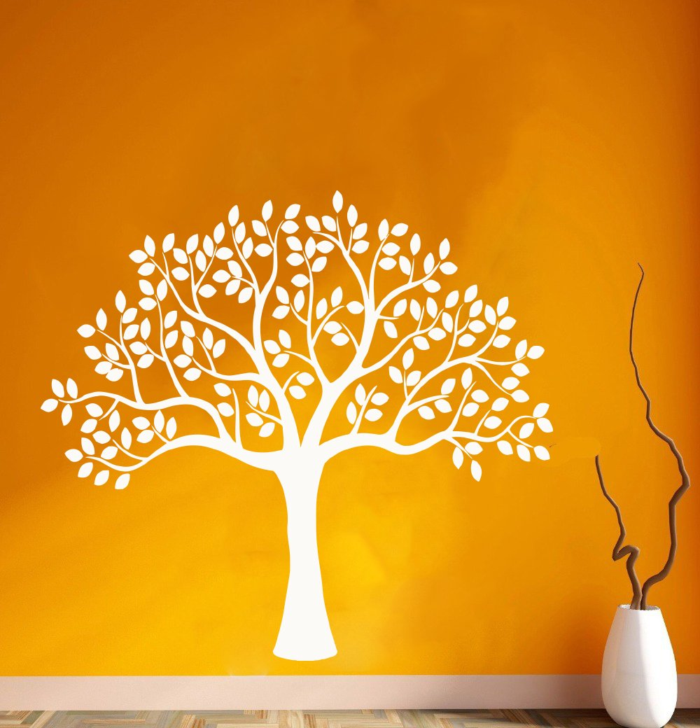 Amazon com tree wallnaturetree trunkbranchleafbirdssprucepinelarchbirchwall decorwall decalwindow stickervinyl sticker handmade 1234 handmade