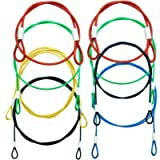 8 Pack Safety Stainless Steel Tethers,Colorful Coated Security Tether Lanyard Kit Cable Wire Compatible with Gopro Hero…