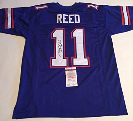 58777ae8a1b Image Unavailable. Image not available for. Color: Jordan Reed Autographed  Signed Florida Gators Blue Jersey ...