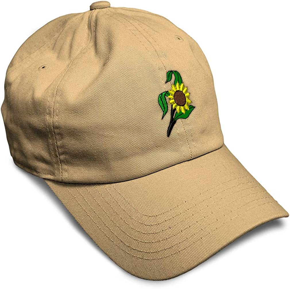 Custom Soft Baseball Cap Sunflowers Embroidery Dad Hats for Men /& Women
