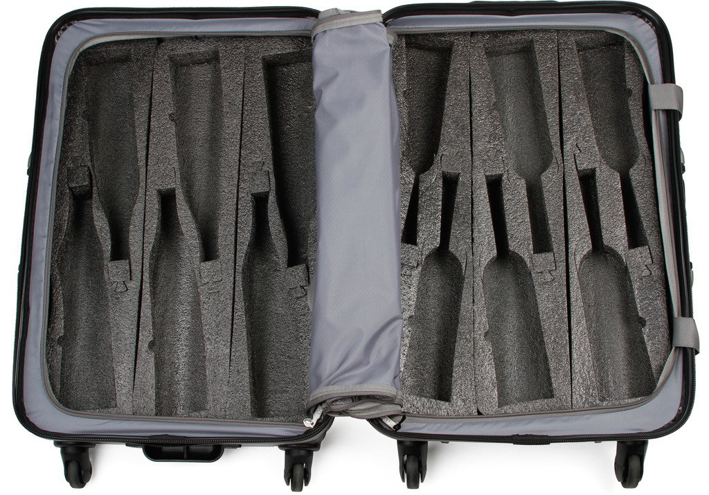 VinGardeValise - Up to 12 Bottles & All Purpose Wine Travel Suitcase (Black) by VinGardeValise (Image #9)