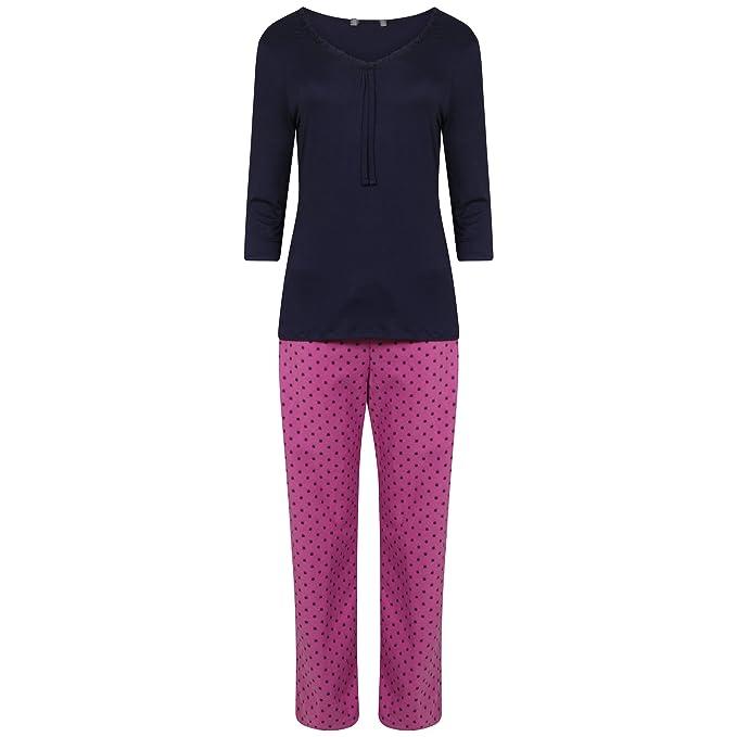 Ex Marks & Spencer - Pijama - para mujer Navy Blue & Purple 44
