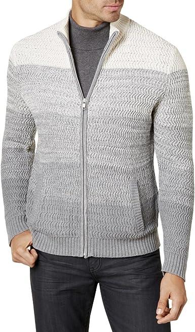 Alfani Mens Ribbed Cardigan Sweater