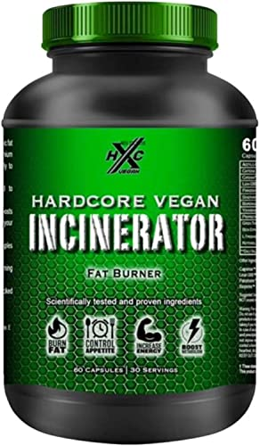 HxC Incinerator – Vegan Weight Loss – Control Appetite, Increase Energy, Boost Metabolism – 60 Veggie Capsules