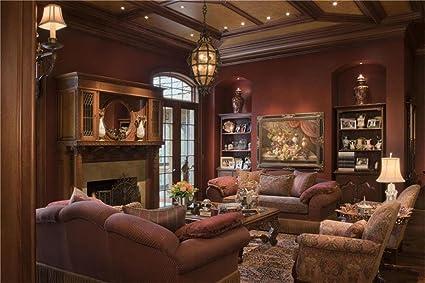 Amazon.com : AOFOTO 12x8ft Luxury Living Room Background Royal ...