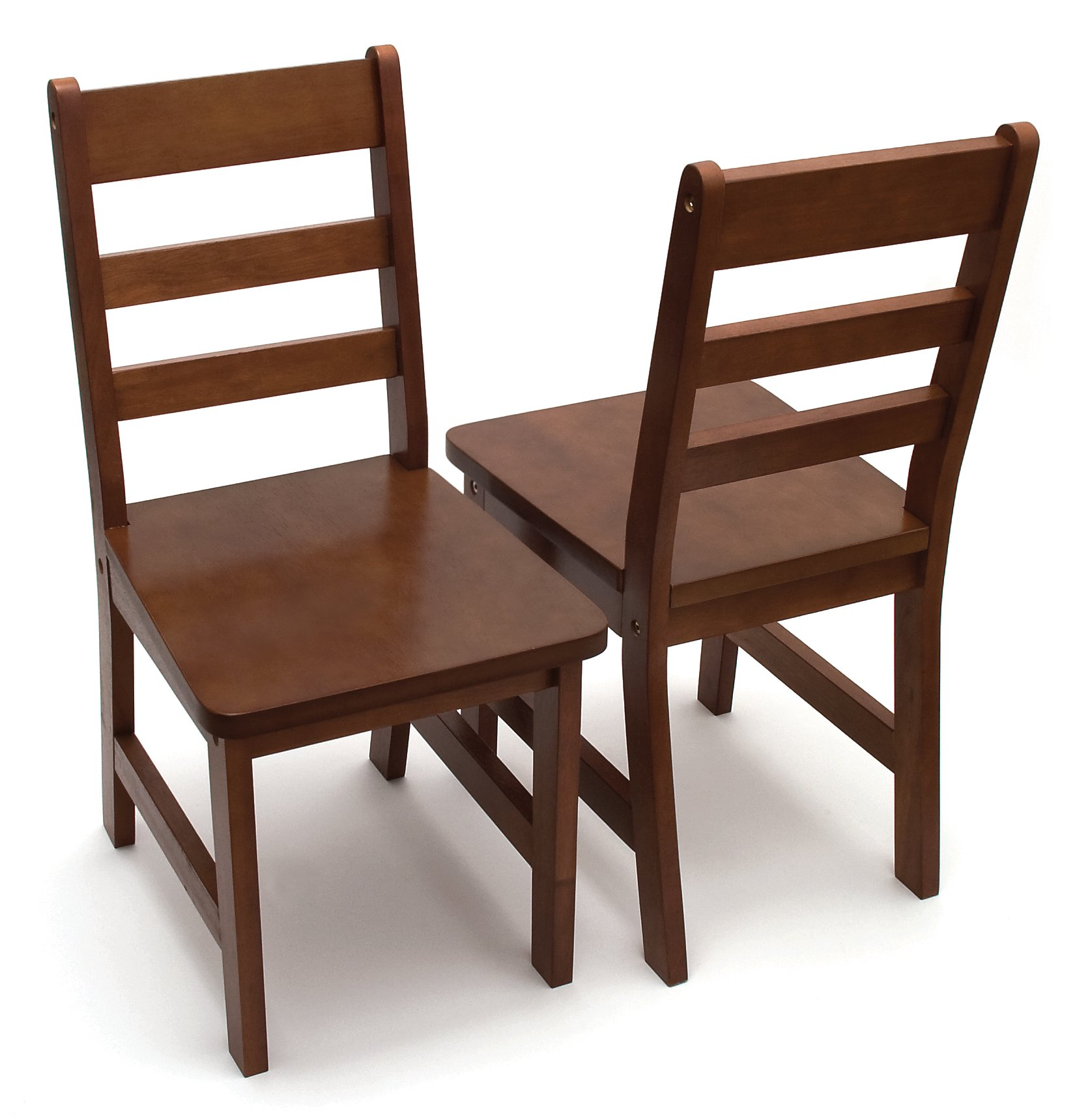 Lipper International 523-4WN Child's Chairs for Play or Activity, 12.38'' W x 15'' D x 26.63'' H, Set of 2, Walnut Finish