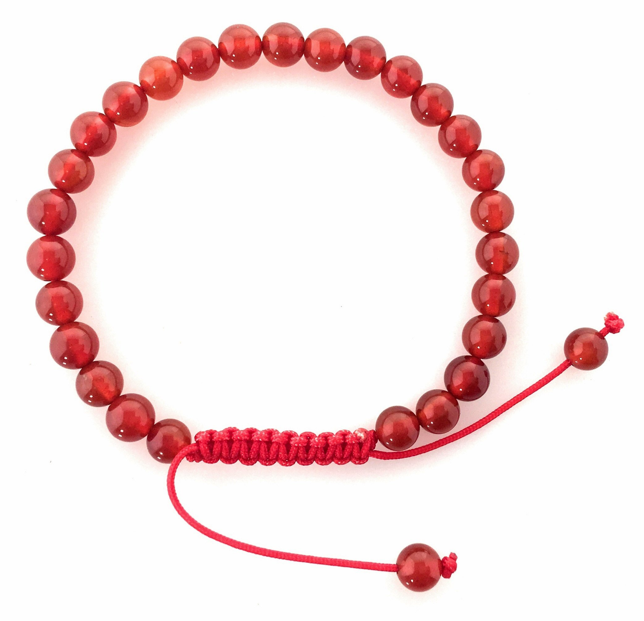 Hands Of Tibet Small Carnelian Wrist Mala/Bracelet for Meditation 6mm
