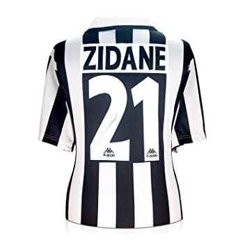bb37bfb8f Zinedine Zidane Signed Juventus Football Shirt  Amazon.co.uk  Sports    Outdoors