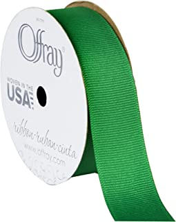 "product image for Offray Craft, 7/8-Inch x 18-Feet, Emerald 7/8"" Wide Grosgrain Ribbon, 18'"