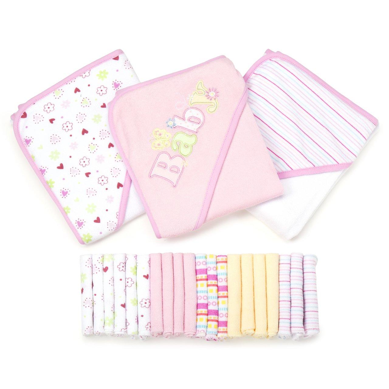 Spasilk 23-Piece Essential Baby Bath Gift Set, Pink by Spasilk