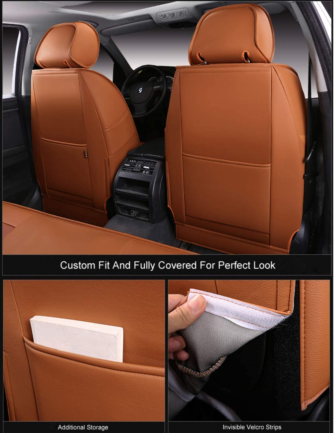 OASIS AUTO Custom Fit PU Leather Seat Cover for 2011-2020 Grand Cherokee